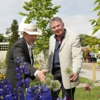 Judge Andrew Wilson and Show Manager Gary Graham in Jane McCorkell's show garden at Bloom 2012. (Photo: Sam Boal/Photocall Ireland)
