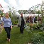 Verity Morrison and Show Manager Gary Graham in the Cavan Crystal Hotel Wedding Garden by garden designer Jason Stubbs. (Photo: Sam Boal/Photocall Ireland)