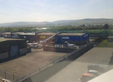 Cookstown Industrial Estate this morning