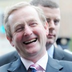 Enda Kenny pictured as he canvasses for a yes vote in tomorrows Fiscal Treaty Referendum outside Pearse St DART Station.  Photo: Laura Hutton/Photocall Ireland
