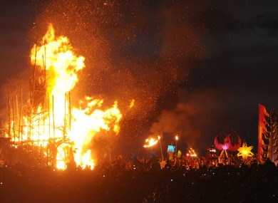 The Festival of the Fires in Westmeath last night