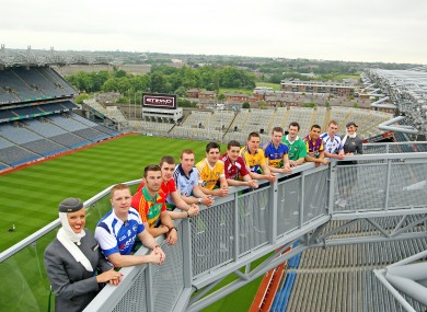The launch of the Etihad Skyline at Croke Park yesterday.