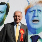London Mayoral candidate Ken Livingstone at the launch in south London of a poster supporting his campaign to be Mayor of London. (Stefan Rousseau/PA Images)