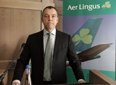 Aer Lingus CEO CHristoph Mueller: The board of Aer Lingus has told shareholders not to take any immediate action following Ryanair's €694m cash bid for the company.