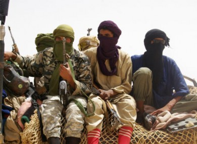Ansar Dine fighters photographed outside Timbuktu in April.
