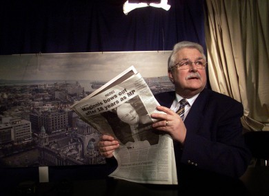 Ken Maginnis pictured in 2001 as he resigned his seat