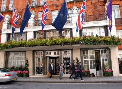 The famous Claridges hotel in London is one of those involved in the €800 million deal.