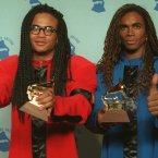 Everyone was stunned when Rob Pilatus, left, and Fab Morvan of Milli Vanilli won Best New Artist - a few days later they were stripped of their award after it emerged they hadn't sang a note on their debut album. (AP Photo/Douglas C. Pizac)