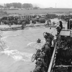 Soldiers of the 2nd Canadian Flotilla establish a beachhead code-named Juno Beach near Bernieres-sur-mer on the northern coast of France during the Allied invasion of the Normandy. (AP Photo)