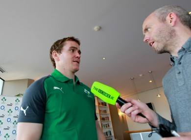 Eoin Reddan, a true gent, listens to tales of Tiger Woods.