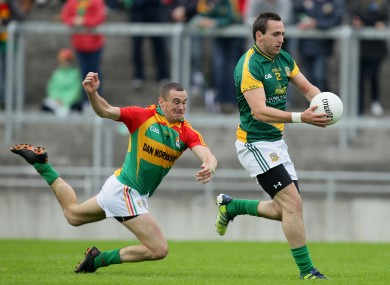 Meath's Graham Reilly escapes the grasp of Tony Bolger.
