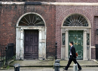 Georgian houses on Henrietta Street, Dublin.