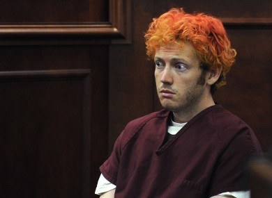 James Holmes did not speak during today's court proceedings.
