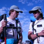 Mark (right) in the Gobi Desert