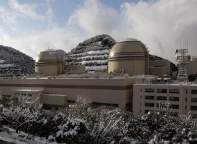 File photo showing reactors No 3 and No 4 (left) of the Ohi nuclear power plant.