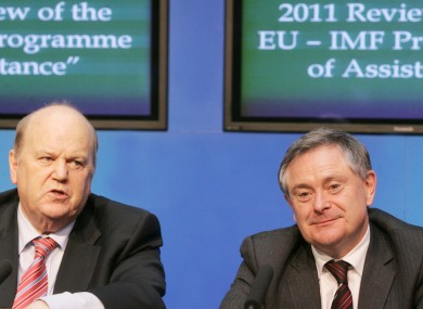 Finance Minister Michael Noonan and Public Expenditure and Reform Minister Brendan Howlin