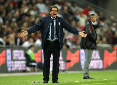 Angry  Capello will get tough with Russians · The42 cbb816554e2f