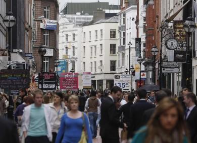 A general view of Grafton Street, Dublin