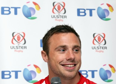 Bowe at the announcement of BT's partnership with Ulster.