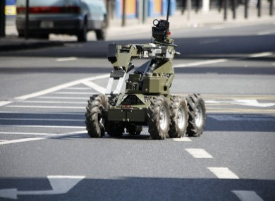 File photo of a remote-controlled device used by the army bomb disposal unit.