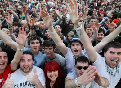 Music fans at one of the Phoenix Park concerts in July