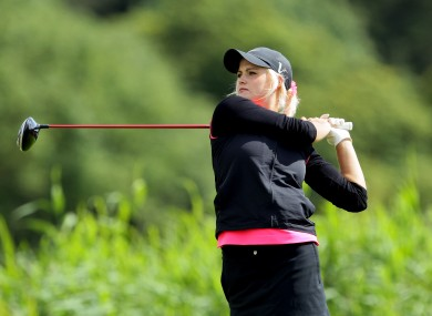 Carly Booth from Scotland finished at -1.