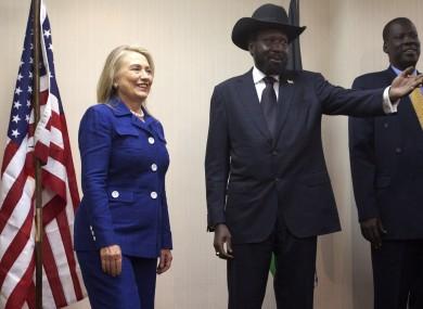 Hillary Clinton meets with South Sudan President Salva Kiir