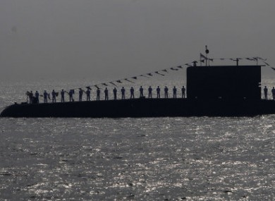 Indian naval personnel on board a submarine off the Mumbai coast in 2011.
