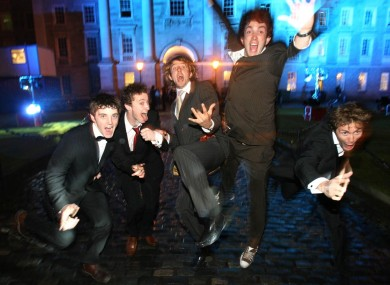 Students enjoying themselves at the Trinity College Ball
