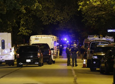 Police near the home of the suspect in the Sikh Temple of Wisconsin last night