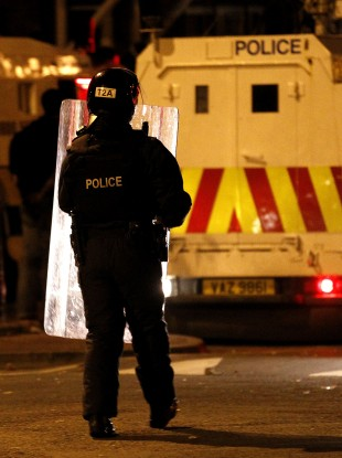 North Belfast last night.