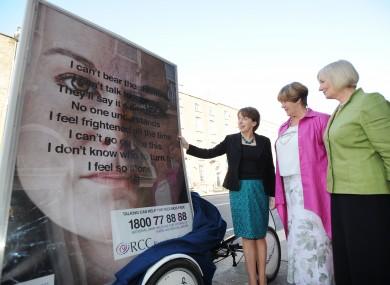 Junior Minister Roisin Shortall, CEO of DRCC Ellen O'Malley Dunlop and chairperson Frances Gardiner