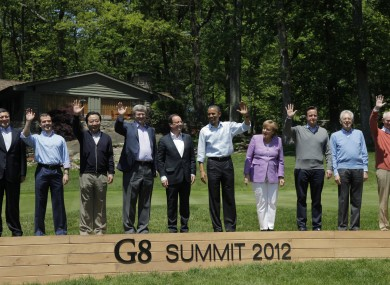 Leaders at the latest G8 summit.