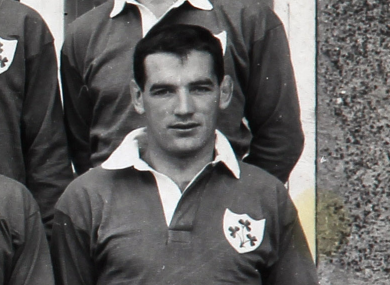 Gerry Culliton pictured with the Irish team in 1961.