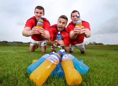Munster players Donnacha Ryan, Niall Ronan and Denis Hurley in UL this week.