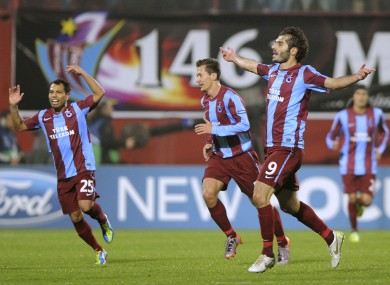 Trabzonspor's Halil Altintop (right) will be making the trip to Louth next year.