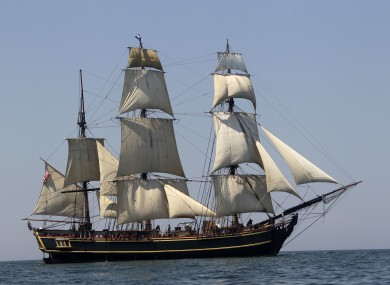 A file photo of HMS Bounty, seen in better times.