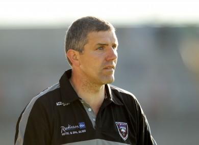 Sligo manager Kevin Walsh