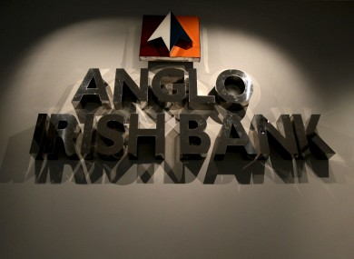 The famous Anglo Irish Bank sign. The bank has since re-branded and is now known as Irish Bank Resolution Corporation.