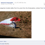 NatGeo benefitted from a little bit of ambush marketing here by sharing Red Bull's photo.