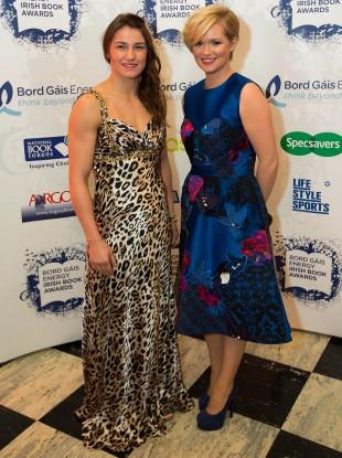 Katie Taylor and Cecelia Ahern
