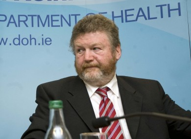 Junior minister Alex White and Health minister James Reilly at yesterday's launch of the 'Future Health' document.