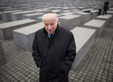 The Chairman of the Jewish Claims Conference Julius Berman walks through the Holocaust Memorial in Berlin