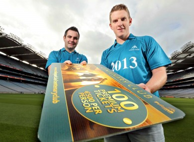 James Skehill in Croke Park yesterday at the launch of the Centenary Club.