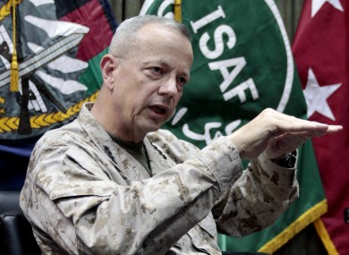 General John Allen is the top commander of the NATO-led mission in Afghanistan.