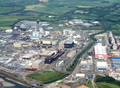 An overview of the Sellafield site in 2008 when the Irish and British governments decided to launch a joint risk assessment.