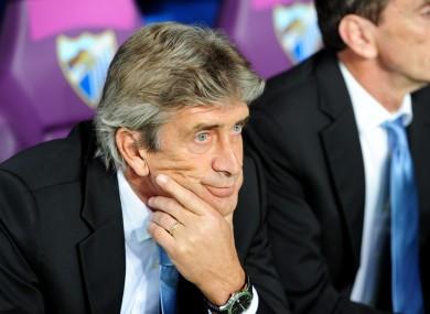 Manuel Pellegrini, Malaga manager.