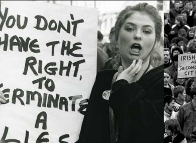 Pro-life and pro-choice protests of 1992