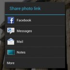 See? You can easily share photos from your phone on Facebook and other major services without launching the app. As you install more apps on your phone, you'll notice more options in this window.