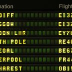 The departure board showed the North Pole destination .